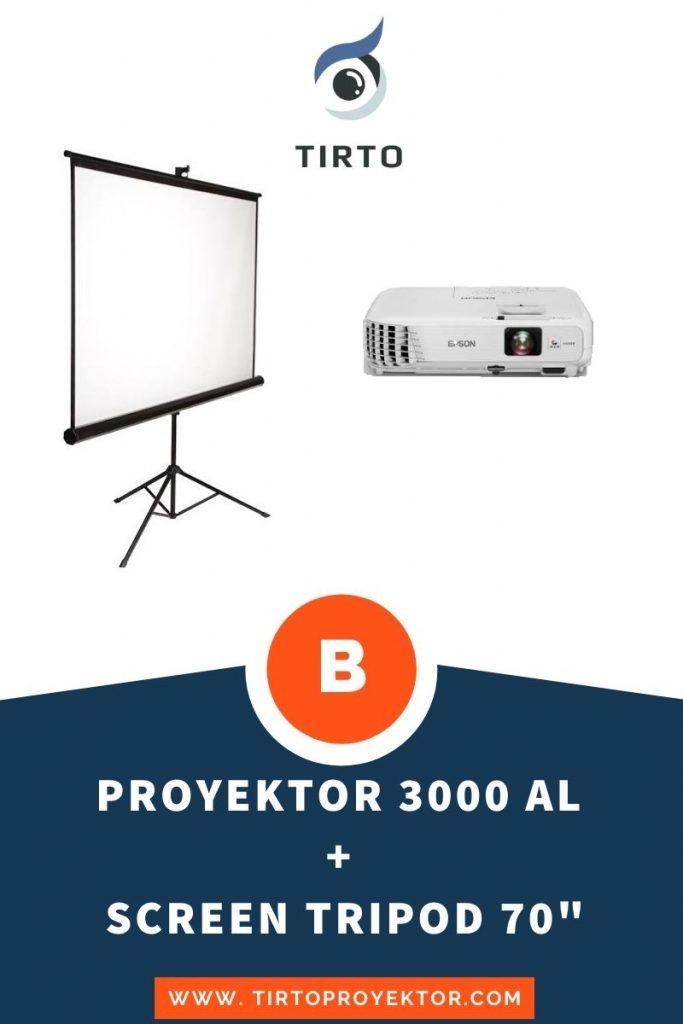 Harga sewa proyektor paket B
