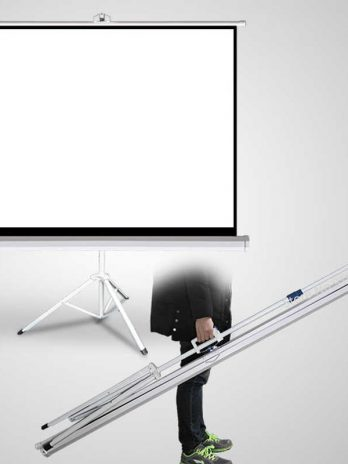 Layar Proyektor Tripod 70″ Merk Projection Screen